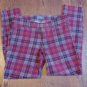 Old navy pixie plaid pants size 6